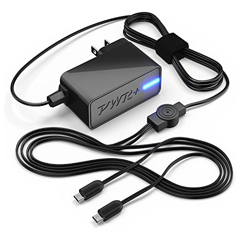[UL Listed] Pwr+ Extra Largo 6.5' Dual 4A Rapid-Charger para Samsung Galaxy Tab 3, 4, A, E, S, S2, 7.0 8.0 8.4 9.6 9.7 10.5...