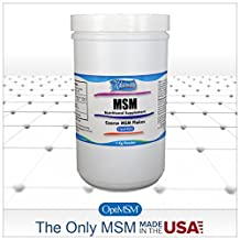 MSM Powder (OptiMSM) Coarse Flakes 1 kg (2.2 lbs)- Pure MSM for Joint, Skin, Nail and Hair Health. The ONLY Methylsulfonylmethane made 100% in the USA and the world's purest, quadruple-distilled MSM. Designed to dissolve quickly in cold or warm drinks. This Natural, Organic Product is 99.9% Pure and Free of Any Additives.