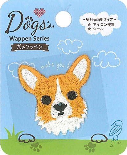稲垣服飾 ドッグス シールワッペン コーギー シール・アイロン接着 両用 DOG009