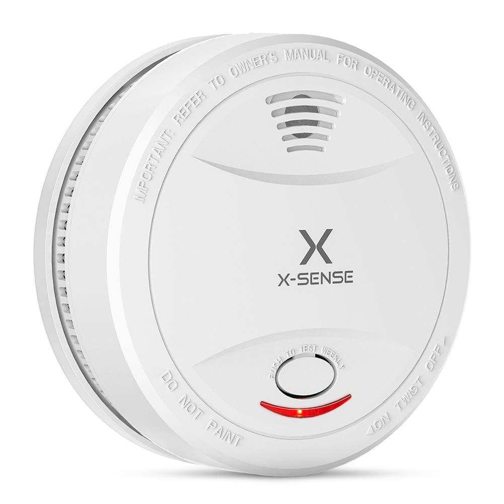 Alarma de Humo X-SENSE SD12, Detector Fotoelé ctrico de Humo con Alarma de Incendio Inteligente, 10 Añ os de Duració n de la Baterí a y Chequeo Automá tico, EN 14604, Certificació n CE Certificación CE