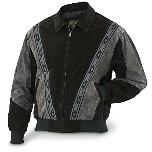 Scully Men's Boar Suede Rodeo Jacket Black X-Large