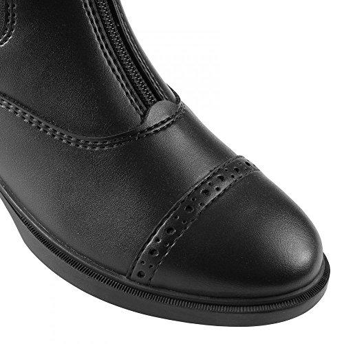 Horze Wexford Jodhpur Stiefelette für Damen mit Reißverschluss vorne Schwarz (BL)