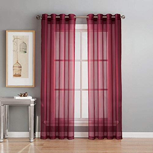window elements diamond sheer voile extra wide 56 x 90 in grommet curtain panel black. Black Bedroom Furniture Sets. Home Design Ideas