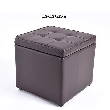 Large Storage Ottoman Coffee Table.Amazon Com Solid Wood Footstool Fabric Change Shoes Stool Storage
