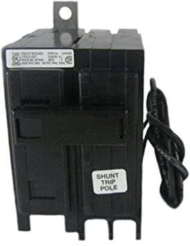 Eaton BAB1020S Bolt-On Mount Type BAB Industrial Miniature Circuit Breaker  with Shunt Trip 1-Pole 20 Amp 120/240 Volt AC Quicklag - - Amazon.comAmazon.com