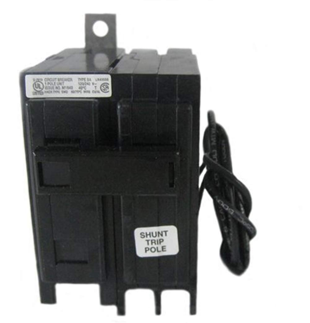 Eaton BAB1020S Bolt-On Mount Type BAB Industrial Miniature Circuit Breaker With Shunt Trip 1-Pole 20 Amp 120/240 Volt AC Quicklag