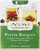 Numi's Petite Bouquet is a sample selection of Numi's Flowering Teas. Small and compact , these miniature treasures are great for gift baskets or as an impulsive purchase. Each box contains one blossom each of the following popular Flowering ...