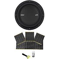"Polk Audio MM842DVC 8"" 900 Watt DVC 4-Ohm Car/Marine Audio Subwoofer Sub+Rockmat"