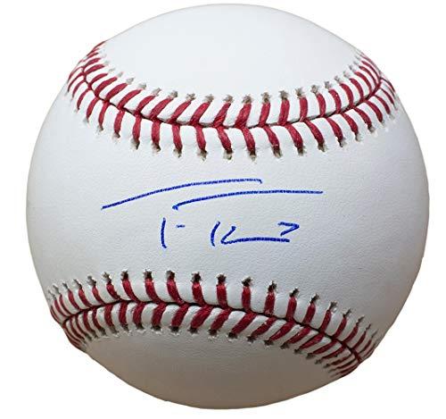 Trea Turner Nationals Signed MLB Baseball w/Free Ball Cube JSA