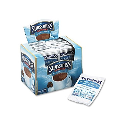 - 3 Pack Hot Cocoa Mix, No Sugar Added, 24 Packets/Box by Swiss Miss. (Catalog Category: Office Maintenance, Janitorial & Lunchroom / Food & Beverage) by Swiss Miss
