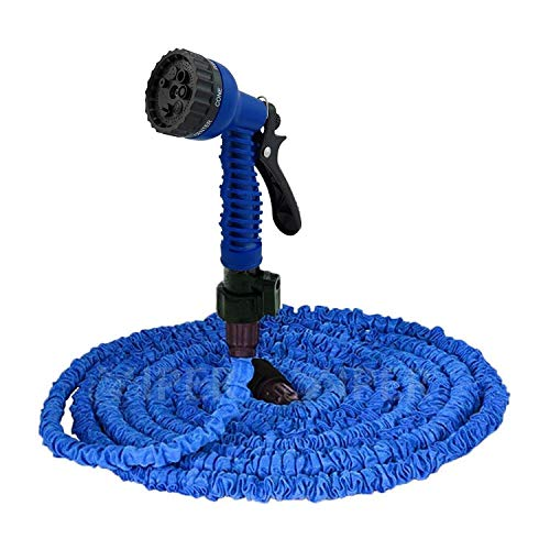 KGN Mart New Expandable Magic Flexible Water Hose 50 Ft / 15 M EU Hose Plastic Hoses Pipe with Spray Gun to Watering Washing Cars 50ft amp;15m