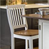 Woodbridge White Kitchen Island & 2 Stools by