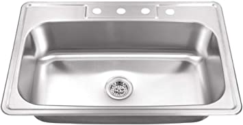 """Stainless Steel Kitchen sink Over-Mount Single bowl  22G 25/"""" x 22/"""" x 8/"""" T2522-8"""