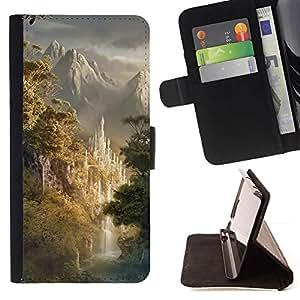 For Samsung Galaxy S5 V SM-G900 Case , Diseño japonés montañas Forrest- la tarjeta de Crédito Slots PU Funda de cuero Monedero caso cubierta de piel