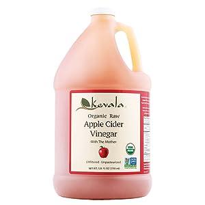 Kevala Organic Apple Cider Vinegar 128 Fluid Ounce, 1 Gallon