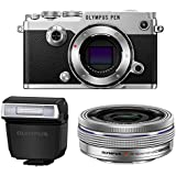 Olympus PEN-F Mirrorless Micro Four Thirds Digital Camera with Olympus M.Zuiko Digital ED 14-42mm f/3.5-5.6 EZ Lens (Silver)