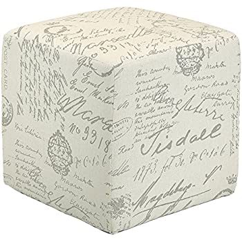 Amazon Com Cortesi Home Ch Ot258670 Braque Cube Ottoman