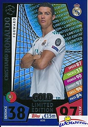 9655da45ada Cristiano Ronaldo 2017 18 Topps Match Attax Champions League EXCLUSIVE  Limited Edition GOLD Card in