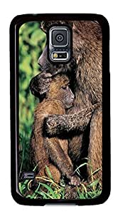 the best Samsung S5 covers Baboon Family Animal PC Black Custom Samsung Galaxy S5 Case Cover