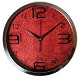 WWJ Modern/Contemporary / Casual Family Wall ClockRound Glass 30*30*4 Indoor/Outdoor / Indoor / Outdoor Clock , red