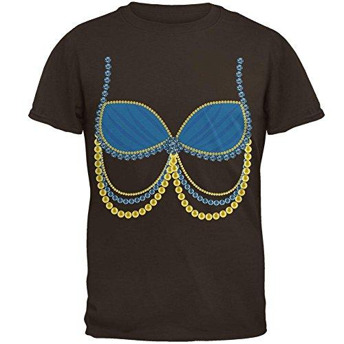 Male Belly Dancer Costumes (Halloween Arabian Belly Dancer Blue Costume Mens T Shirt Brown X-LG)