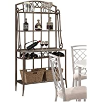 Acme Furniture Acme 73003 Aldric Faux Marble Bakers Rack, Antique Finish, One Size