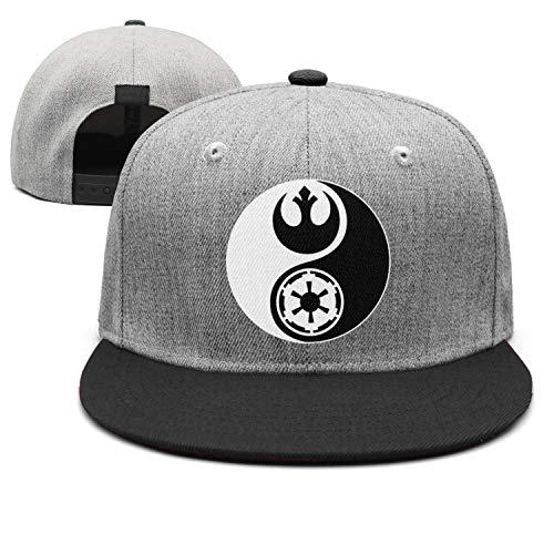 Unisex Trucker Hat-Star Wars Yin Yang Design Adjustable Snapback Sport Cap ()