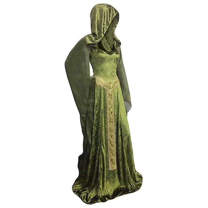 Amazon.com: Sinastar - Vestido gótico medieval, de ...