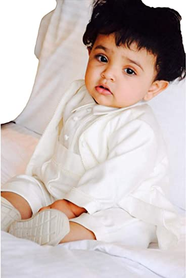 2609f8d4c ShineGown Baby Boys  Christening Outfit Romper Suit 3 Pieces with ...