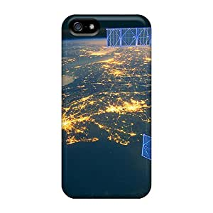 High Quality Shock Absorbing Cases For Iphone 5/5s-earth From Space At Night
