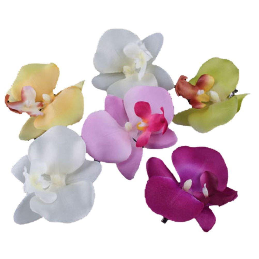 Amazon 6 pcs new orchid flower fashion hair clip hairpins amazon 6 pcs new orchid flower fashion hair clip hairpins bridal hawaii party girl beauty izmirmasajfo