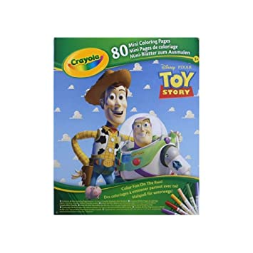 crayola mini coloring pages disney pixar toy story