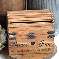 with My Whole Heart for My Whole Life Personalized Wedding Card Box
