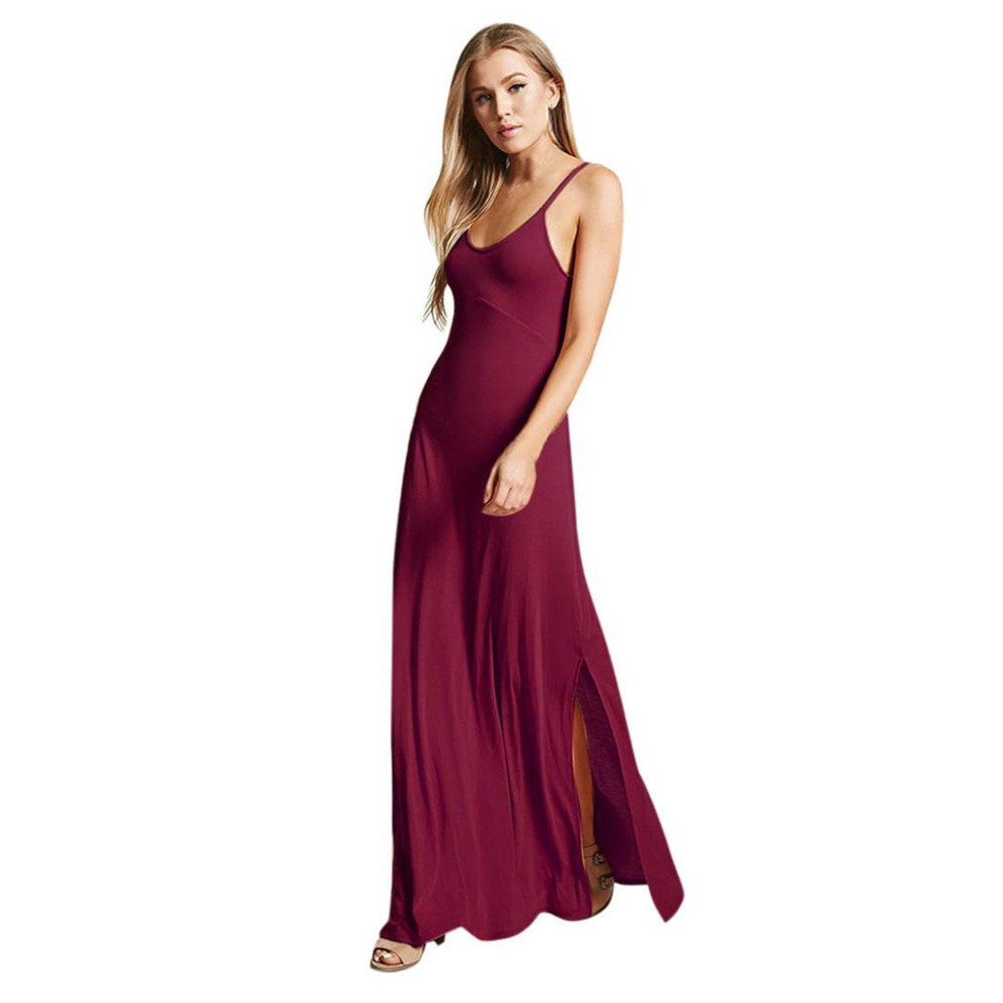 ... Neck Evening Party Dress Elegant Playsuit Jumpsuits Beach Maxi Dress For Ladies Fashion Casual Sexy New Look Autumn Summer Skirt: Amazon.co.uk: Clothing