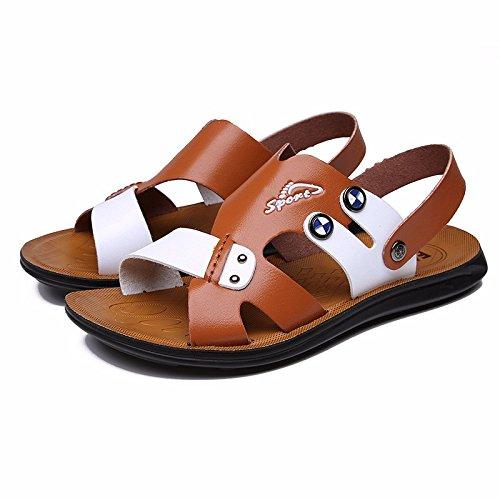 Il nuovo sandali Uomini scarpa estate Uomini sandali indossabile Spiaggia scarpa Uomini traspirante Tempo libero scarpa ,Marrone 1,US=9,UK=8.5,EU=42 2/3,CN=44