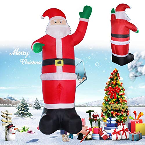 Viet-SC Inflatable Bouncers - Inflatable Santa Claus Christmas Tree Outdoor Lawn Yard Decor Airblown 220V 1 PCs]()