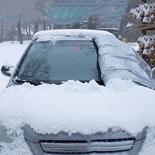 fengzong Pare-Brise de Voiture Visor Cover UV Protect Anti Ice Snow Frost Shield Protection Contre la poussi/ère Pare-Soleil pour Le Pare-Brise de Voiture Avant Noir et Noir