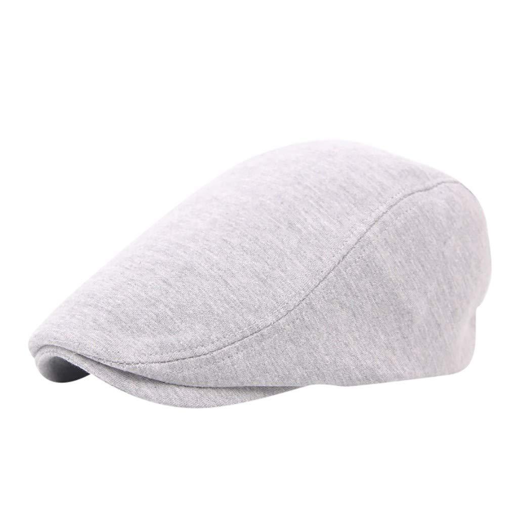 Pollyhb Women//Men Beret Solid Newsboy Tweed Flat Cap Gatsby Hat