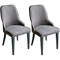 Merax Set of 2 Metal Dining Chairs with Padded Seat and Back (BROWN)