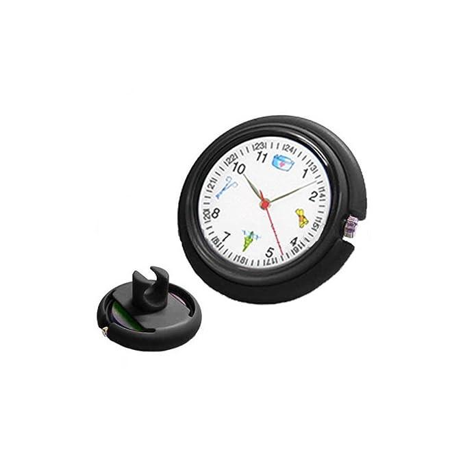 Prestige Medical Reloj para fonendo. Original reloj digital analógico para el fonendoscopio. (Negro