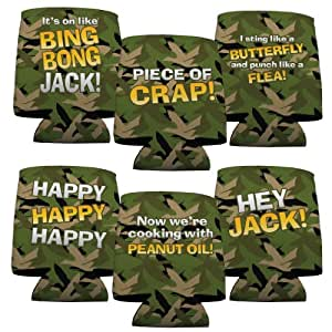 Duck Dynasty Can Cooler - Set of 6 - 6 Different Quotes with Duck Camouflage Background
