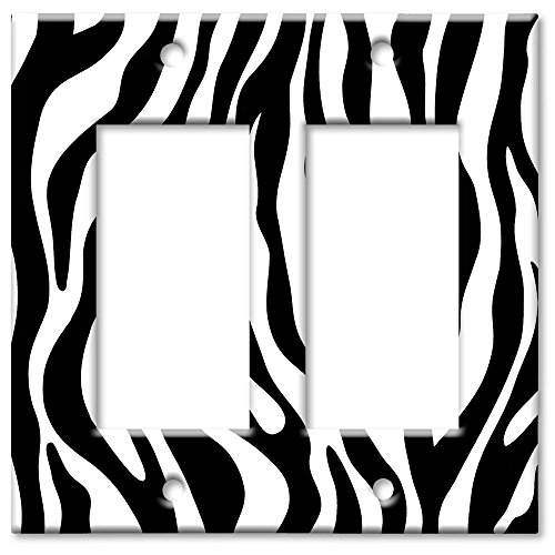 (Double Gang Rocker Wall Plate - Zebra Print)