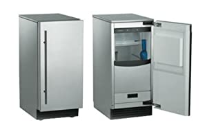 "Scotsman SCN60GA-1SS 15"" Brilliance Outdoor Ice Machine with Gravity Drain Nugget Ice Cubes, 80 lbs in Stainless Steel"