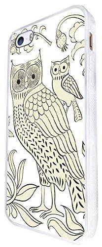 1561 - Fashion Trend Multi Owls Cute Aztec Design iphone SE - 2016 Coque Fashion Trend Case Coque Protection Cover plastique et métal - Blanc