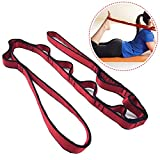 Description: 1. Product Name: Yoga anti-gravity rope flat strap 2. Material: nylon 3. Features: dense stitching, safe and secure; nylon material, high strength, low friction coefficient, good wear resistance, light weight; 8 loops for a rope. 4. Size...
