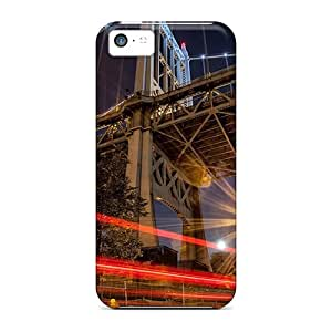 WilliamBain Case Cover Protector Specially Made For Iphone 5c Car Lights Under A Mighty Bridge