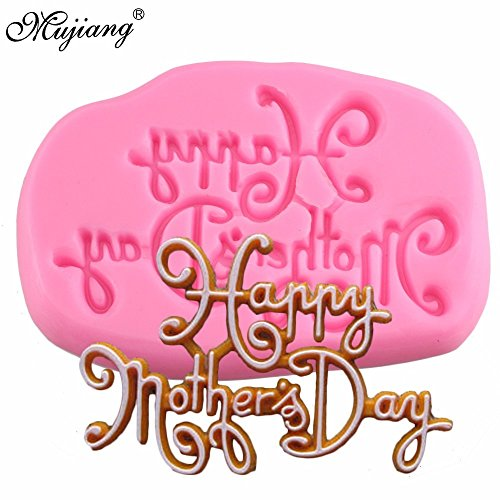 Star Trade Inc - Happy Mother's Day Silicone Mold Letters Baking Party Fondant Cake Decorating Tools Candy Chocolate Polymer Clay Moulds