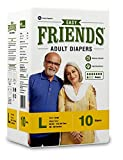 Friends Adult Diaper (Basic) – Large (10 Count)