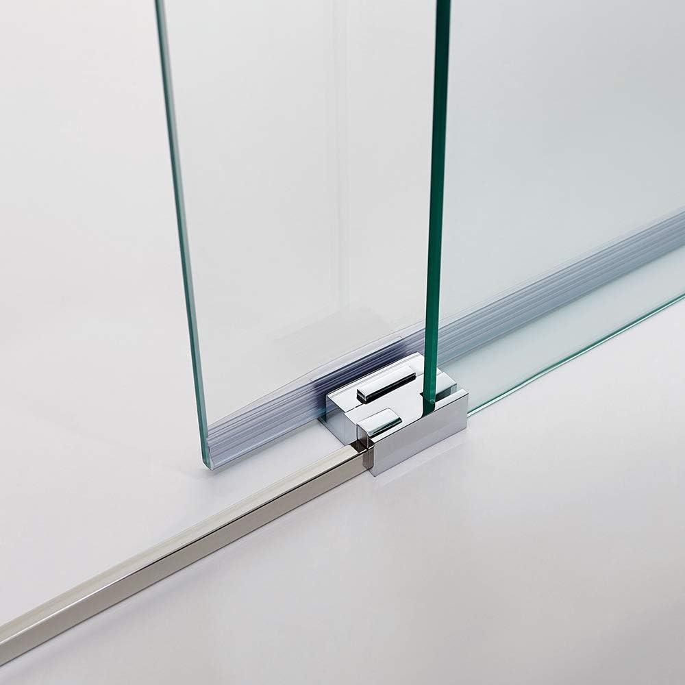 Mampara de Ducha - GME - Basic Frontal - 1 Hoja Fija + 1 Hoja Corredera - Medida - 165-170 cm: Amazon.es: Bricolaje y herramientas