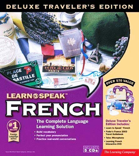 Learn to Speak French Language Plus France Travel Guide (5 CD Set) Deluxe Traveler's Edition